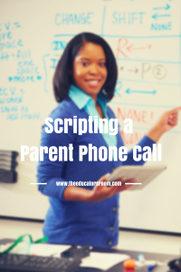 Scripting a Parent Phone Call