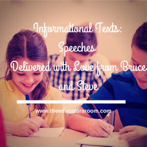 Informational Texts_ Speeches Delivered