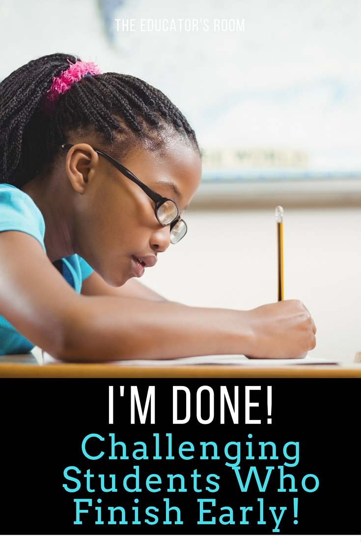 challenging students who finish early