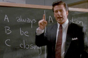 "scene from the film ""Glengarry Glen Ross"""