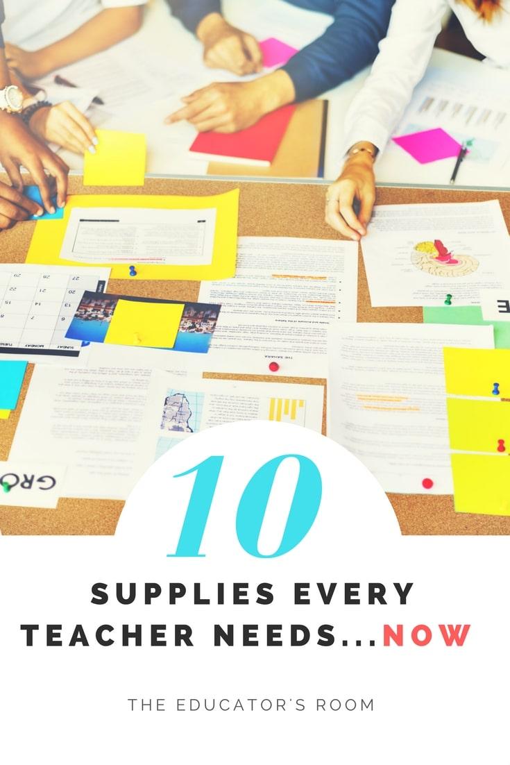 classroom supplies every teacher needs