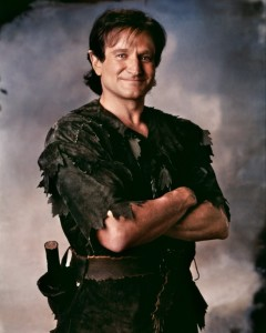 Robin Williams as Peter Pan in 'Hook' - image courtesy Amblin Entertainment