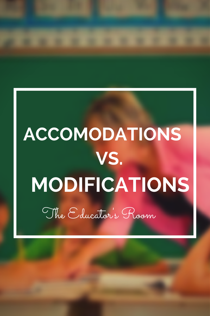 accommodation vs reform What is the difference between accommodation and modification for a student with a disability.