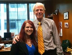 Author Dana Dooley with CA Assembly Member Dickinson