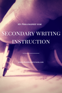 Secondary writing instruction