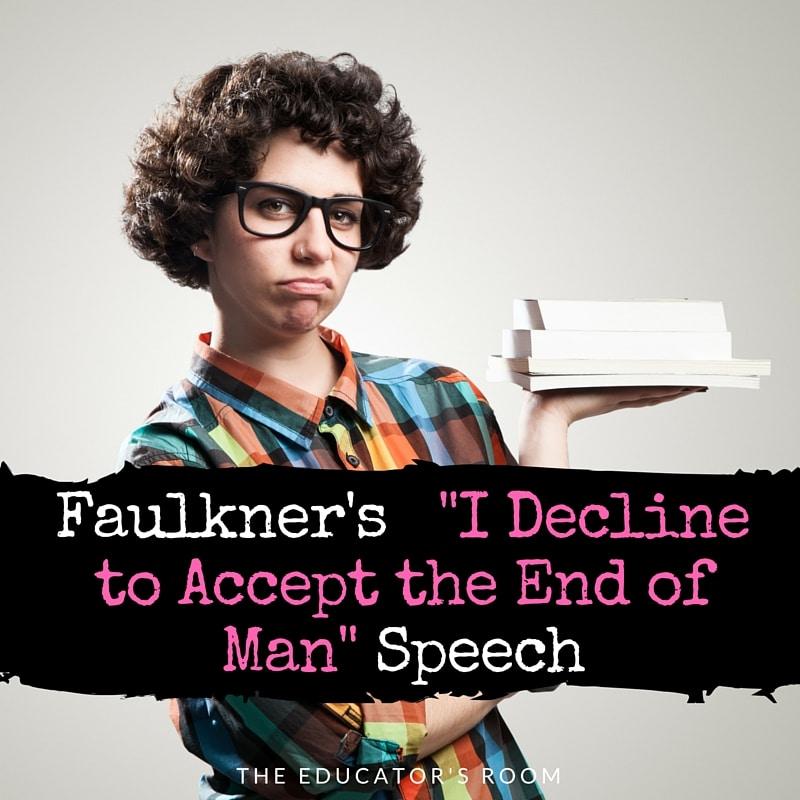 faulkner nobel prize speech