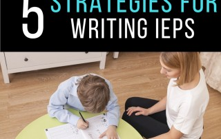 writing IEPs