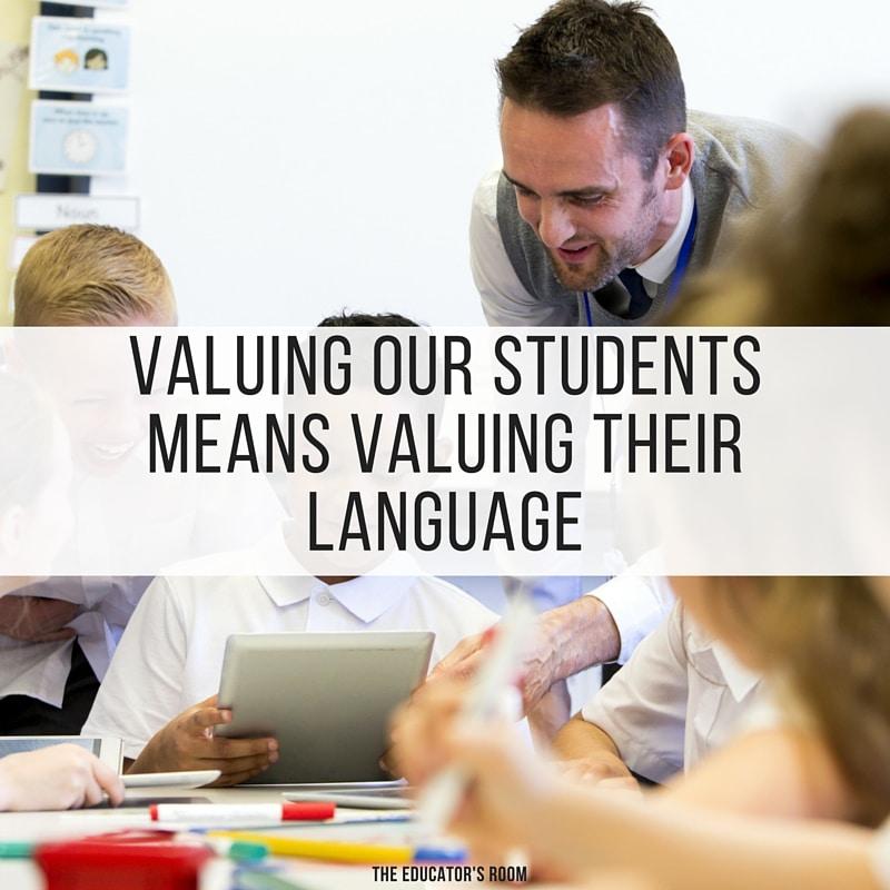 value their language