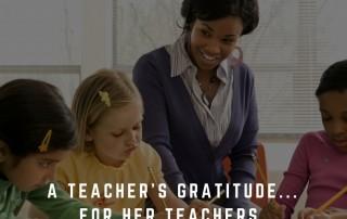 A Teacher's Gratitude
