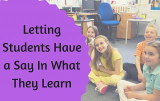 Letting Students have a Say in What they Learn
