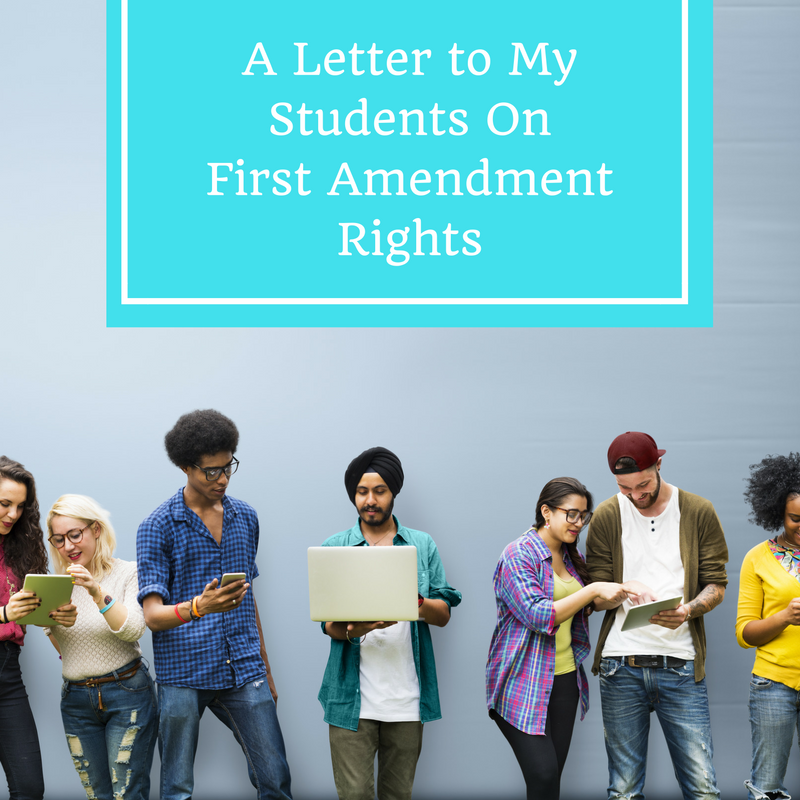 first amendment rights and students Colleges are slowly taking away your first amendment rights by robert shibley by robert shibley july 2, 2014 america must not see another generation of students robbed of their basic rights to protest and to dissent on campus robert shibley.