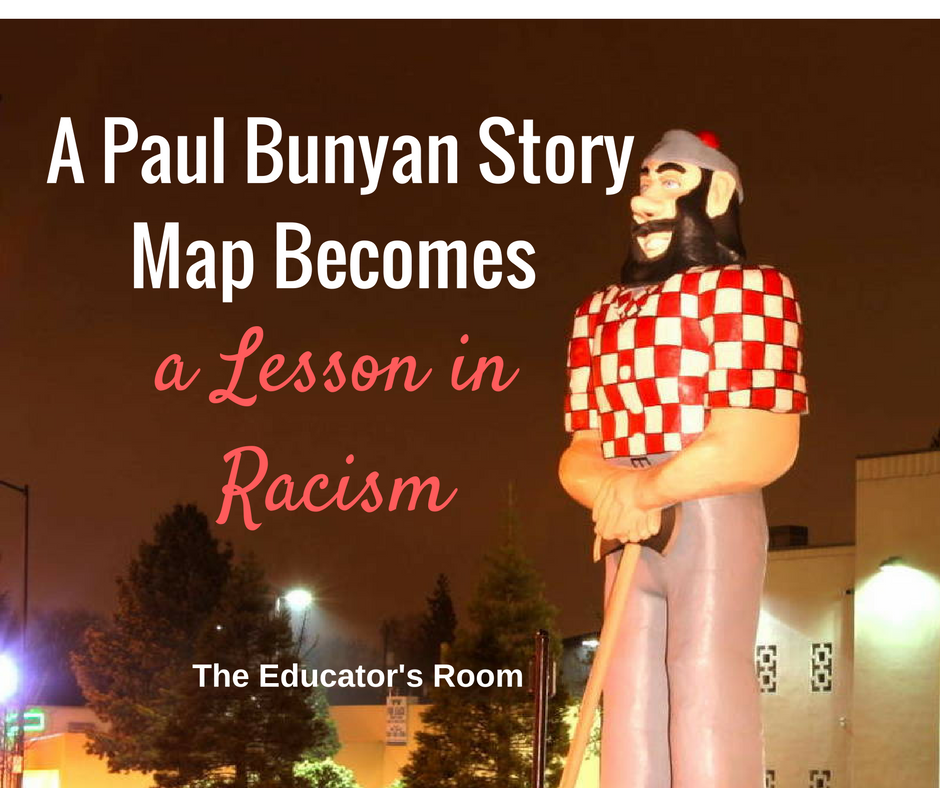 A Paul Bunyan Story Map Becomes A Lesson In Racism The Educators - Paul bunyan in us map