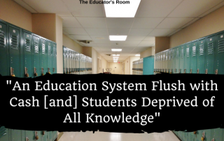 Education System Flush with Cash...