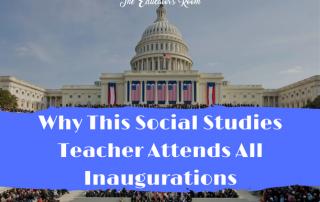 Social Studies Teacher Attends Inaugurations