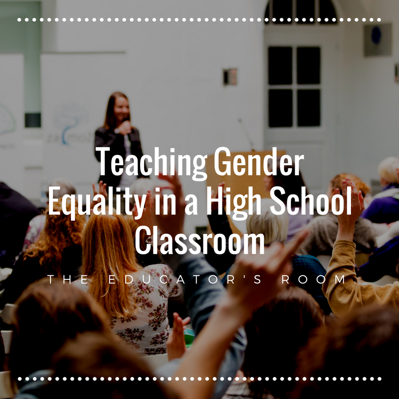 gender equality in the classroom While these declarations specifically address gender equity in prek–12  classrooms, nsta recognizes the importance of the issue in higher education.