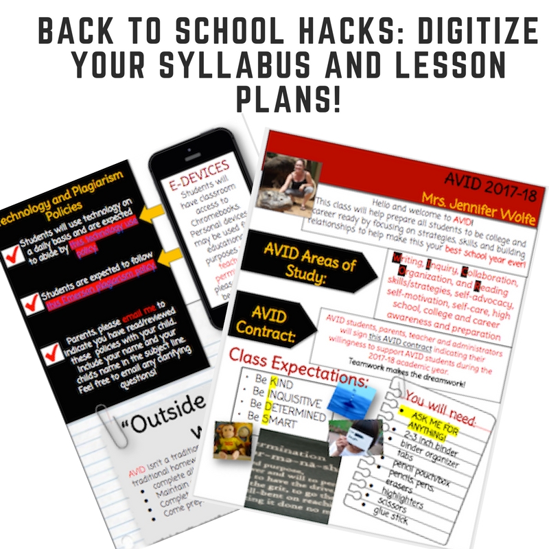 Back To School Hacks: Digitize Your Syllabus and Lesson