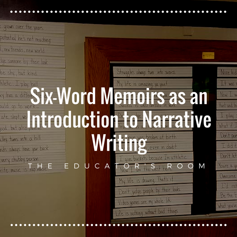 Common core memoir unit for 8th grade array six word memoirs as an introduction to narrative writing the rh theeducatorsroom com fandeluxe Gallery
