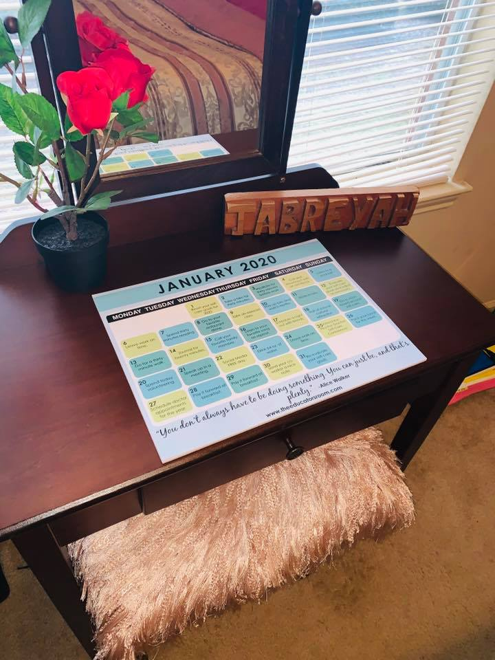 Teacher Self-Care Calendar
