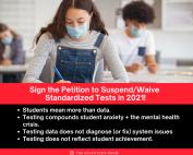 Suspend Standardized Testing